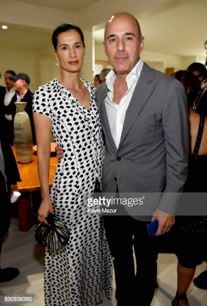 Annette Roque and Matt Lauer attend Apollo in the Hamptons 2017 hosted by Ronald O Perelman at The Creeks on August 12 2017 in East Hampton New York