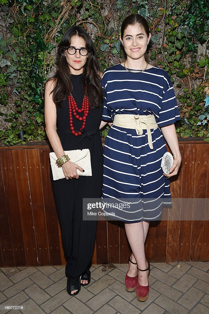 Annette Stephens and Phoebe Stephens attend the It's Officially Summer event with OFF and Guest of a Guest at Maritime Hotel on July 14 2015 in New...