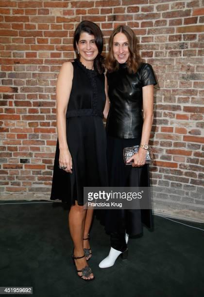 Annette Weber and Dorothee Schumacher attend the Schumacher show during the MercedesBenz Fashion Week Spring/Summer 2015 at Sankt Elisabeth Kirche on...