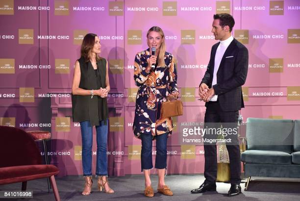 Annette Weber Prinzessin Lilly SaynWittgenstein and Alexander Mazza during the Maison Chic event at KONEN on August 30 2017 in Munich Germany