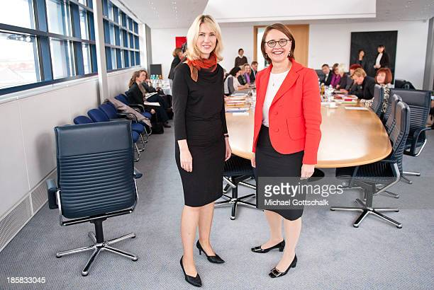 Annette WidmannMauz Parliamentary Secretary of State in the Federal Ministry of Health and Manuela Schwesig Social Minister in German State of...