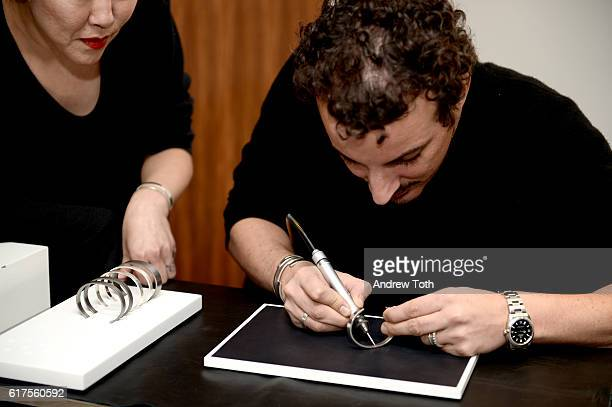 Annex Song and Nicolas Ouchenir attend Artisan Day hosted by Barneys New York on October 23 2016 in New York City