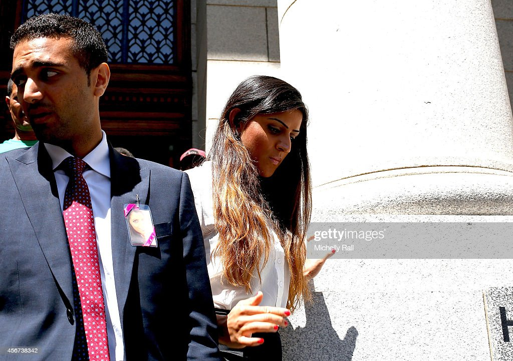 Anni Dewani's cousin, Sneha Hindocha leaves the Western Cape High Court on October 6, 2014 in Cape Town, South Africa. British businessman Shrien Dewani, who fought an extradition battle for three years, is accused of arranging the murder of his new wife in 2010, just days after their marriage. A South African taxi driver and two accomplices are serving prison sentences for their connection with the murder of Mrs Dewani.