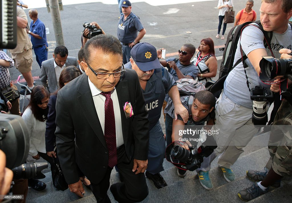 Anni Dewani's father Vinod Hindocha at the Western Cape High Court during Shrien Dewani's murder trial on December 8, 2014 in Cape Town, South Africa. Shrien Dewani was found not guilty of organising his wife's murder while they were on honeymoon in Cape Town in 2010.