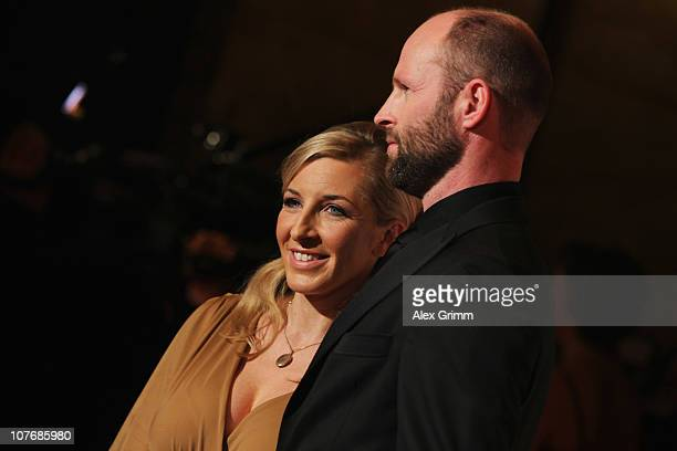 Anni FriesingerPostma and her husband Ids Postma arrive for the 'Athlete of the Year 2010' gala at the Kurhaus BadenBaden on December 19 2010 in...