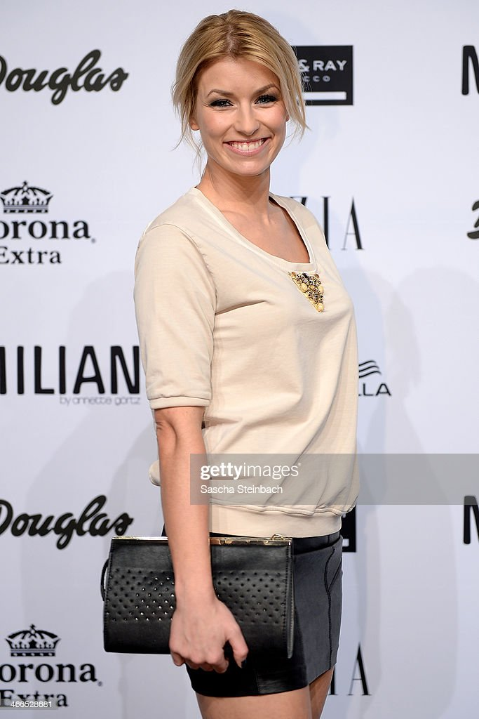 Annica Hansen attends the Milian by Annette Goertz show during Platform Fashion Dusseldorf on February 1, 2014 in Dusseldorf, Germany.