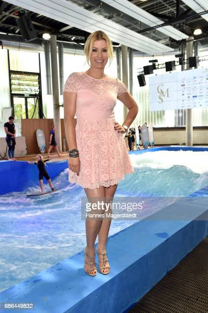 Annica Hansen attends the Pre Golf Party during the 9th Golf Charity Cup hosted by the Christoph Metzelder Foundation on May 20 2017 in Taufkirchen...