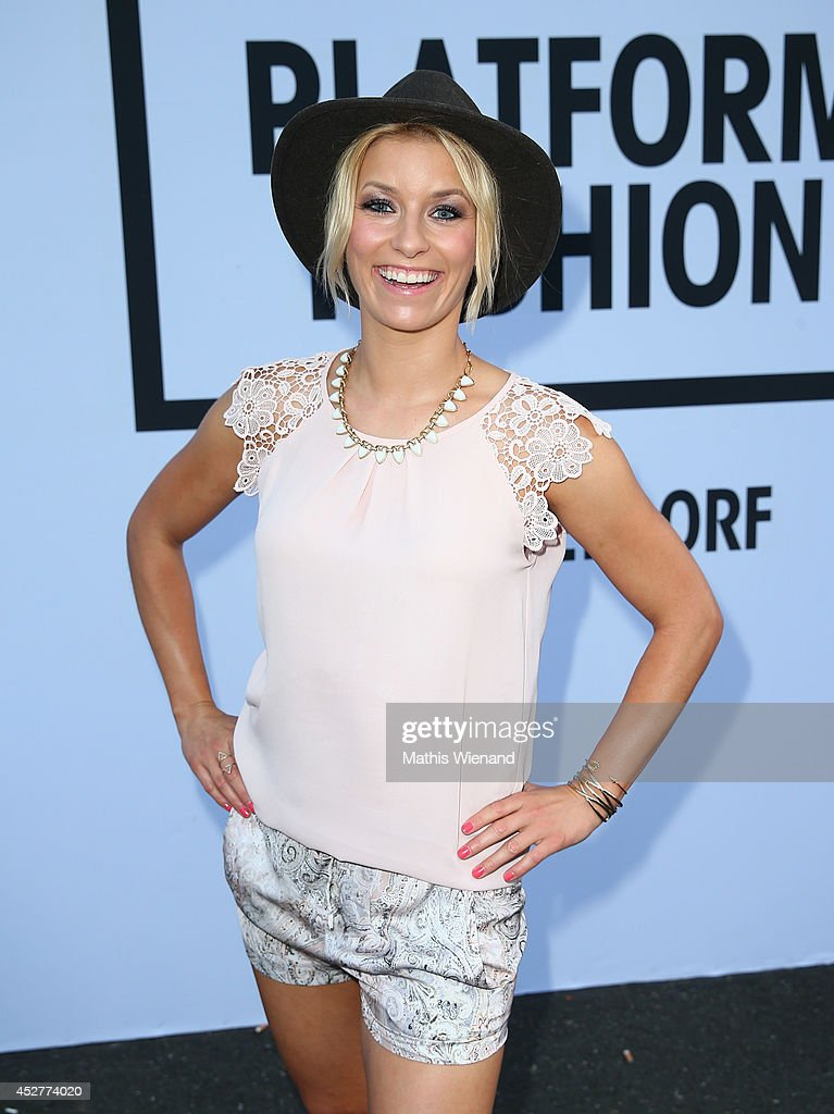 Annica Hansen attends the Van Laack Show at Platform Fashion on July 26, 2014 in Duesseldorf, Germany.