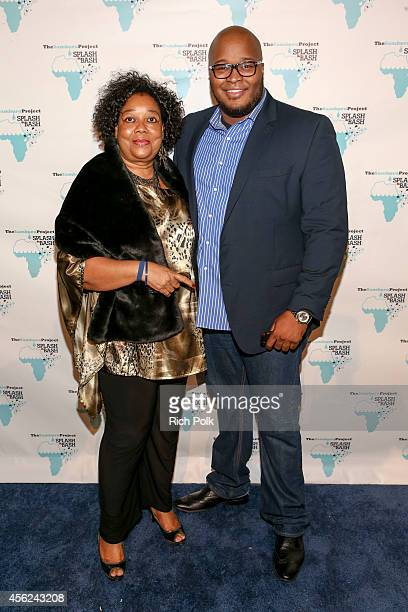 Annick Soumare Cheick Soumare Wonder Productions arrive at the Samburu Splash Bash Event on September 27 2014 in Santa Monica California