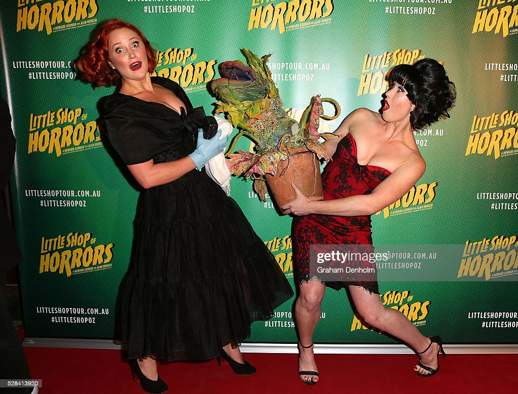 Annie Aitken arrives ahead of the opening night for the Little Shop of Horrors at the Comedy Theatre on May 5, 2016 in Melbourne, Australia.