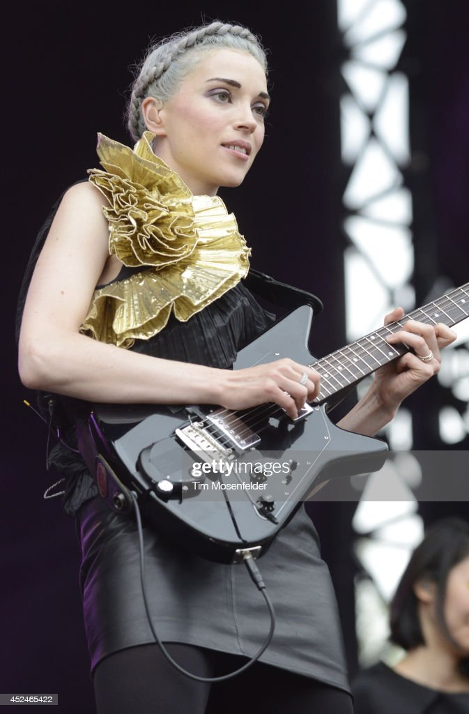 <a gi-track='captionPersonalityLinkClicked' href=/galleries/search?phrase=Annie+Clark&family=editorial&specificpeople=4537940 ng-click='$event.stopPropagation()'>Annie Clark</a> aka St. Vincent performs during the Pemberton Music and Arts Festival on July 20, 2014 in Pemberton, British Columbia.
