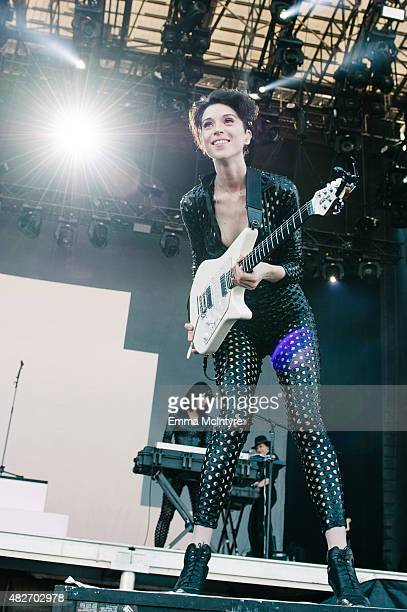 Annie Clark aka St Vincent performs on Day Two of the Osheaga Music and Arts Festival on August 1 2015 in Montreal Canada