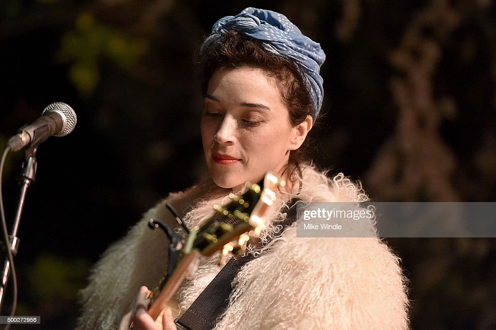 Annie Clark a.k.a. St. Vincent performs onstage during the MusiCares house concert with Ben Gibbard, St. Vincent and The War On Drugs on December 6, 2015 in Pasadena, California.