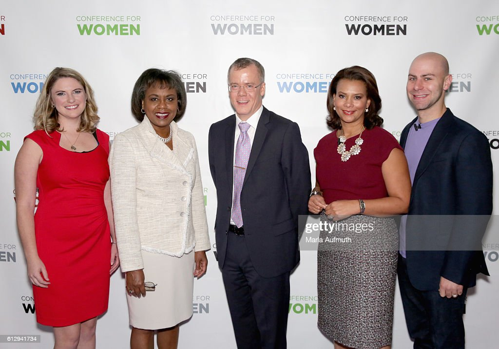 Annie Clark, Anita Hill, Christopher Boerner, Tamala Edwards and Adam Grant attend the Pennsylvania Conference for Women 2016 at Pennsylvania Convention Center on October 6, 2016 in Philadelphia, Pennsylvania.