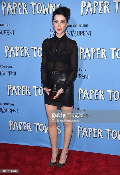 Annie Clark of St Vincent attends the 'Paper Towns' New York Premiere at AMC Loews Lincoln Square on July 21 2015 in New York City