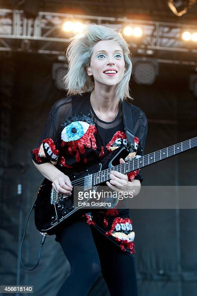 Annie Clark of St Vincent performs at Zilker Park on October 3 2014 in Austin Texas