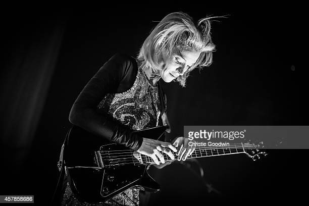Annie Clark of St Vincent performs on stage at The Roundhouse on October 25 2014 in London United Kingdom