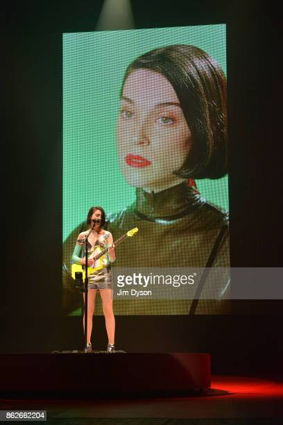 Annie Clarke aka St Vincent performs live on stage at Brixton Academy on October 17 2017 in London England
