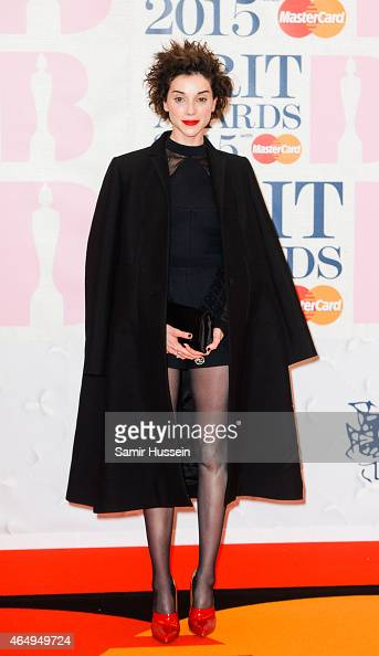 Annie Clarke of St Vincent attends the BRIT Awards 2015 at The O2 Arena on February 25 2015 in London England