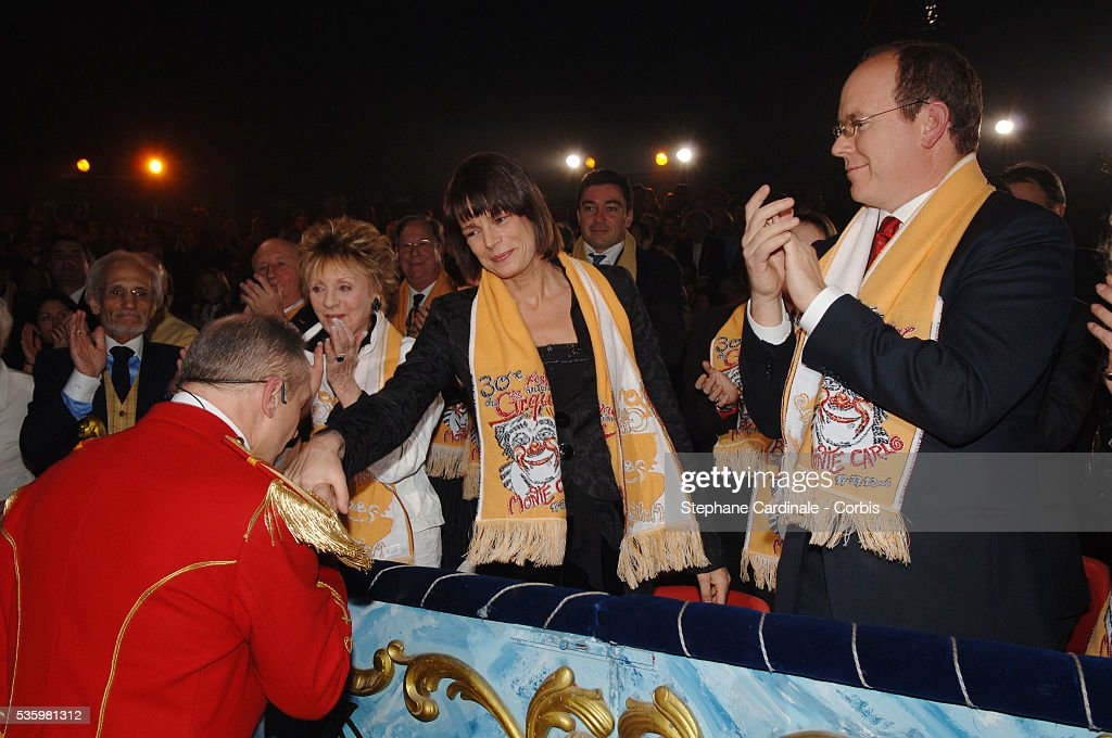 Annie Cordy, HSH Princess Stephanie of Monaco and HSH Prince Albert II of Monaco at the 30th Circus Festival of Monte Carlo.