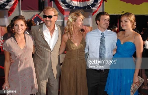 Annie Costner Kevin Costner Christine Baumgartner Joe Costner and Lily ...