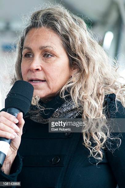 Annie D'Angelo Nelson at the Farm Aid Press Conference at Miller Park on 2nd October 2010 in Milwaukee Wisconsin United States