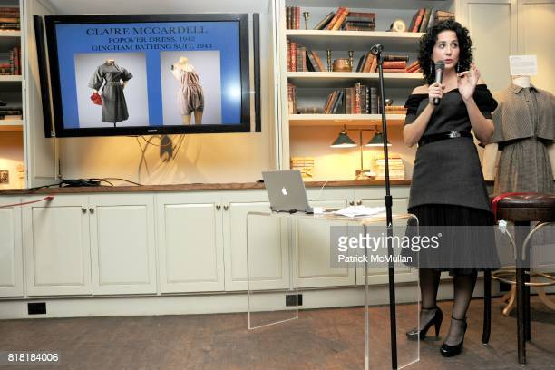 Annie Frank attends 'Forgotten Fashion' book party honoring the release of Let's Bring Back by Lesley MM Blume at Library on November 16 2010 in New...