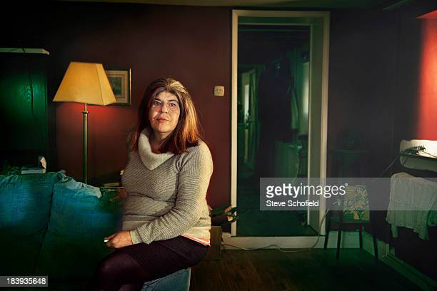 Annie Freud who was a model for painter Lucien Freud is photographed for Sunday Times magazine on November 28 2012 in London England