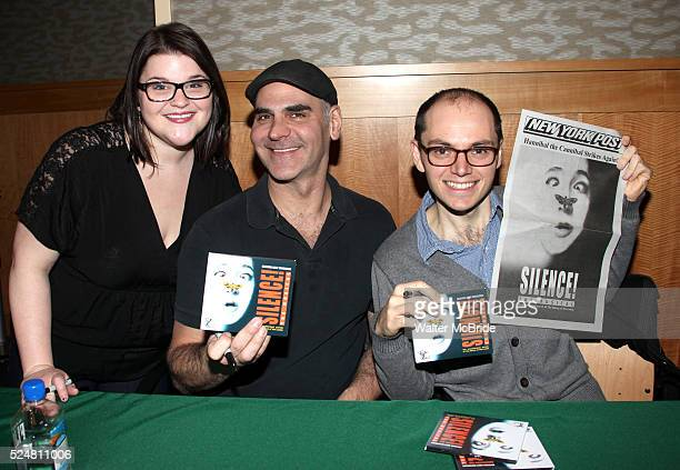 Annie Funke Howard Kaye Topher Nuccio promotes the 'SILENCE The Musical' Cast Recording with a CD signing at Barnes Noble 86th Lexington on February...