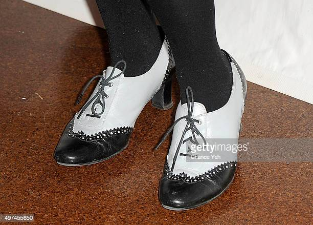 Annie Golden shoe detail attends 2015 Primary Stages Gala at 583 Park Avenue on November 16 2015 in New York City