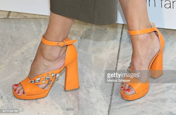 Annie Greenberg Senior Style Editor at Refinery29 shoe detail attends 2015 FIT Future Of Fashion Runway Show at The Fashion Institute of Technology...