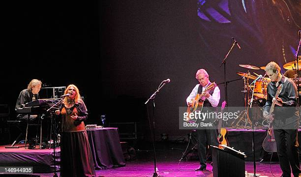 Annie Haslam Michael Dunford Jason Hart Dave Keyes Frank Pagano and Rave Tasar of Renaissance perform during NearFest 2012 at the Zoellner Arts...