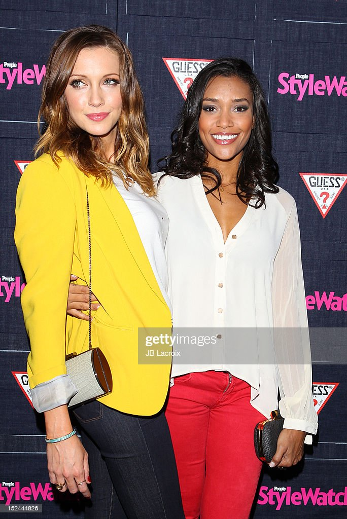 Annie Ilonzeh and Katie Cassidy attend the People StyleWatch Hollywood Denim Party at Palihouse Holloway on September 20, 2012 in West Hollywood, California.