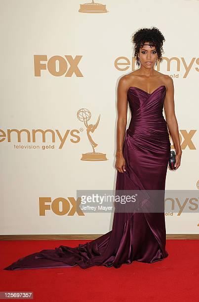 Annie Ilonzeh arrives at the 63rd Primetime Emmy Awards at the Nokia Theatre LA Live on September 18 2011 in Los Angeles California