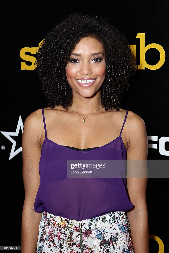 Annie Ilonzeh arrives at the J. Cole Performs At Footaction's 'Own The Stage' Celebration at W Hollywood on October 19, 2012 in Hollywood, California.