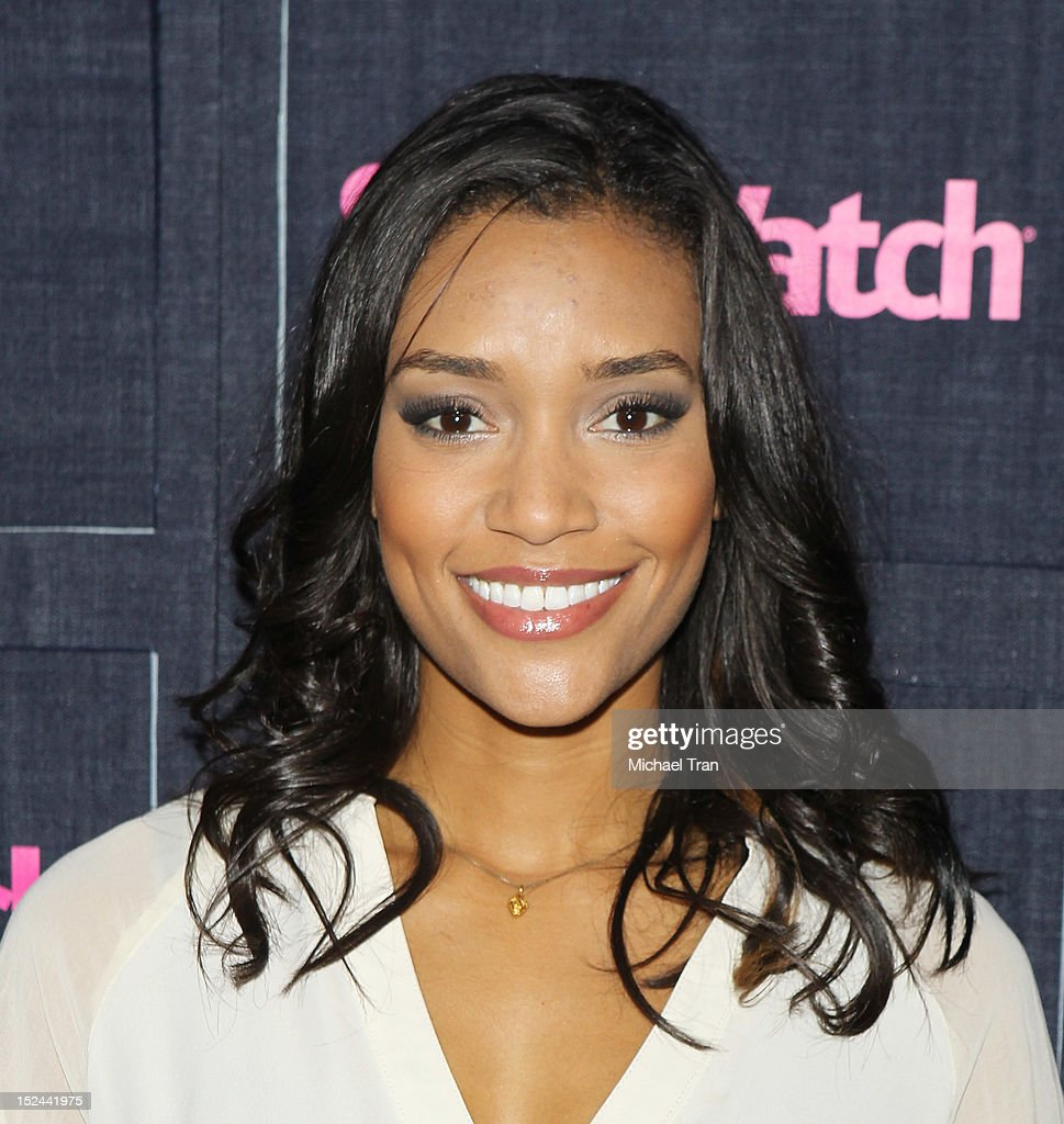 Annie Ilonzeh arrives at the People StyleWatch Hollywood denim party held at Palihouse Holloway on September 20, 2012 in West Hollywood, California.