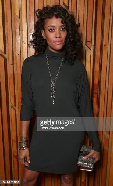 Annie Ilonzeh attends a Love Music Funk Jam hosted by Kat Graham at The Peppermint Club on June 25 2017 in Los Angeles California