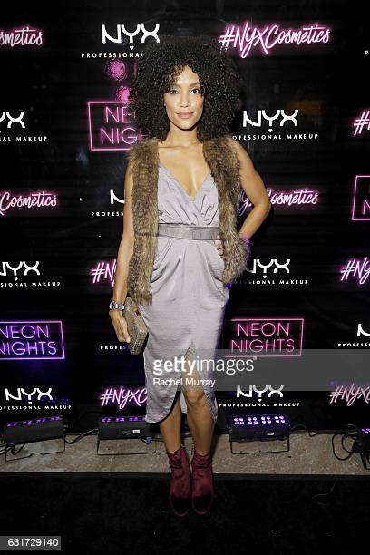 Annie Ilonzeh attends NYX Professional Makeup Presents 'Neon Nights' IMATS LA VIP Party at The Reserve on January 14 2017 in Los Angeles California