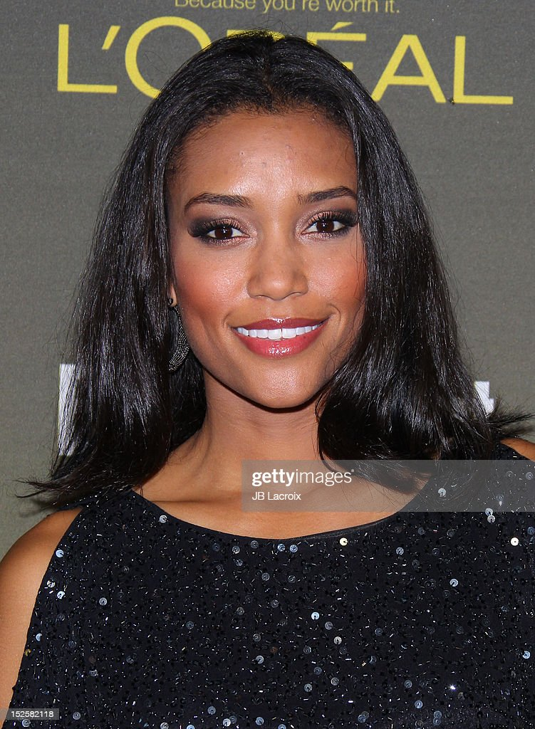 Annie Ilonzeh attends the 2012 Entertainment Weekly Pre-Emmy Party at Fig & Olive Melrose Place on September 21, 2012 in West Hollywood, California.