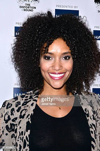 Annie Ilonzeh attends the Los Angeles Premiere of 'The Distortion of Sound' at The GRAMMY Museum on July 10 2014 in Los Angeles California