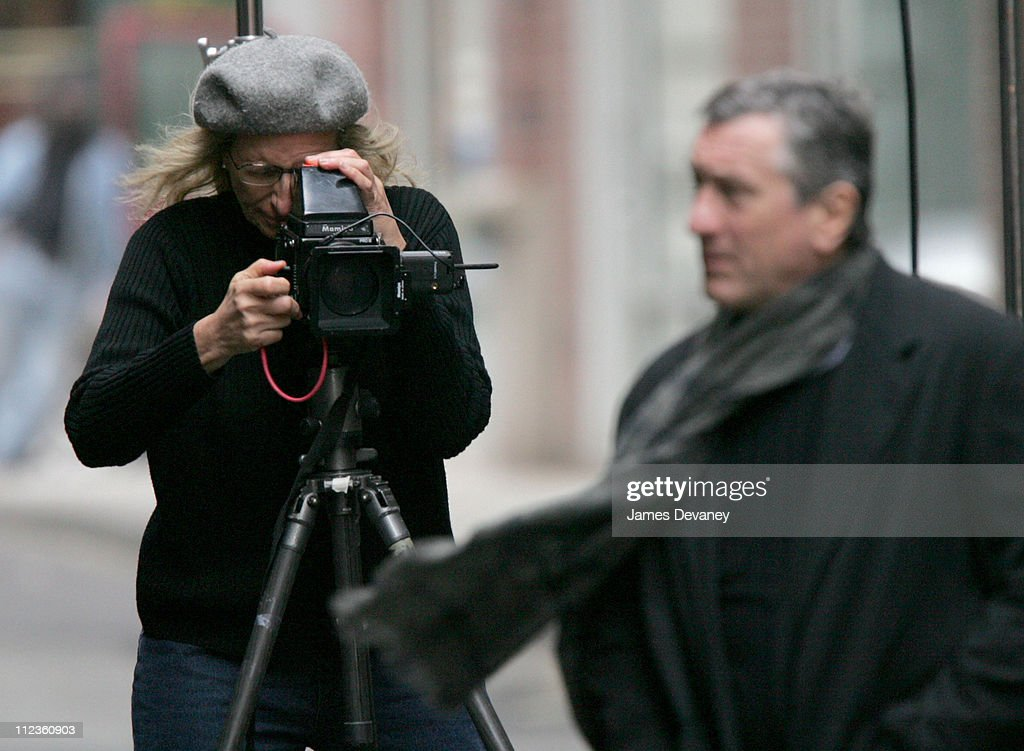 Annie Leibovitz and Robert De Niro during Annie Leibovitz Photo Shoot with Robert De Niro - November 18, 2004 at Tribeca, New York City in New York City, New York, United States.