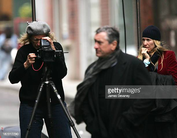 Annie Leibovitz and Robert De Niro during Annie Leibovitz Photo Shoot with Robert De Niro November 18 2004 at Tribeca New York City in New York City...