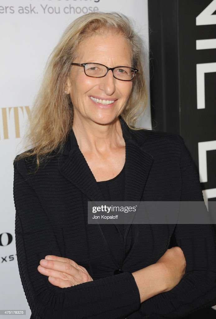 Annie Leibovitz arrives at the Vanity Fair Campaign Hollywood Leon Max And Annie Leibovitz Book Launch at Chateau Marmont on February 26 2014 in Los...
