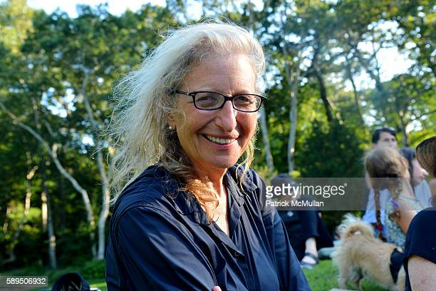 Annie Leibovitz attends LongHouse Reserve Presents Laurie Anderson's Concert For Dogs at LongHouse Reserve on August 13 2016 in East Hampton NY