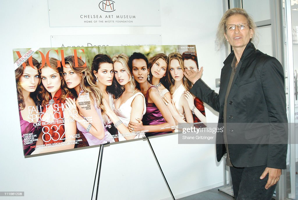 Annie Leibovitz during Ann Taylor 50th Anniversary Celebration with Vogue at Chelsea Art Museum in New York City NY United States