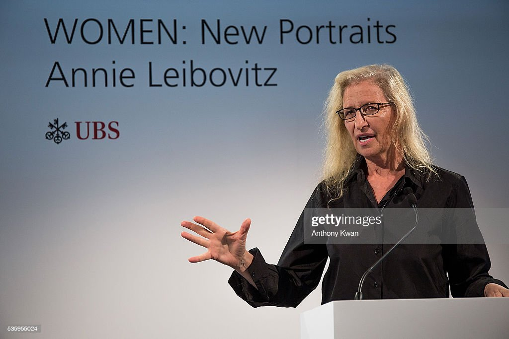 <a gi-track='captionPersonalityLinkClicked' href=/galleries/search?phrase=Annie+Leibovitz&family=editorial&specificpeople=549168 ng-click='$event.stopPropagation()'>Annie Leibovitz</a> on May 31, 2016 in Kennedy Town, Hong Kong. 'WOMEN: New Portraits' by <a gi-track='captionPersonalityLinkClicked' href=/galleries/search?phrase=Annie+Leibovitz&family=editorial&specificpeople=549168 ng-click='$event.stopPropagation()'>Annie Leibovitz</a>, commissioned by UBS. Cheung Hing Industrial Building, June3Ð26, 2016
