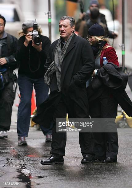 Annie Leibovitz Robert De Niro and crew during Annie Leibovitz Photo Shoot with Robert De Niro November 18 2004 at Tribeca New York City in New York...