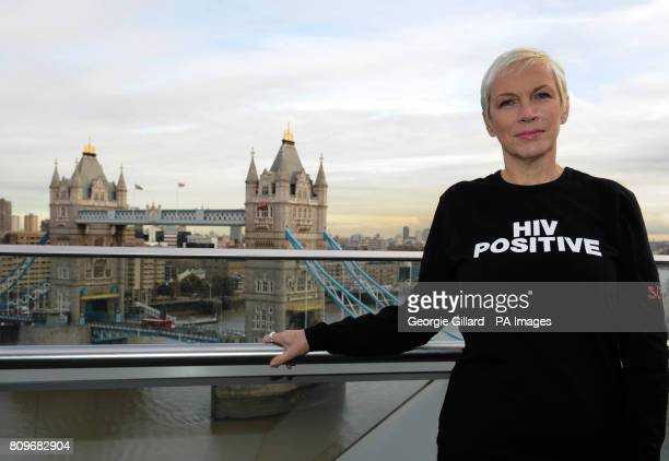 Annie Lennox at the City Hall for a reception to launch Body Soul's 'In my Shoes' campaign for World AIDS Day