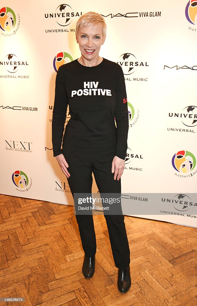 Annie Lennox attends a gala celebrating 15 years of mothers2mothers which she hosted at One Marylebone on November 3, 2015 in London, England.
