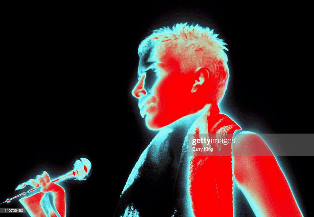 Annie Lennox of Eurythmics during Eurythmics Concert At The Pantages - August 28, 1989 at The Pantages Theater in Hollywood, California, United States.